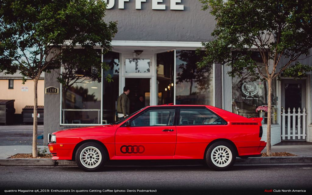 quattro Magazine q4_2019: Enthusiasts In quattro Getting Coffee