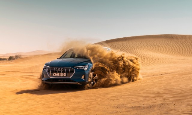 Journalists Test Drive The Audi e-tron In Abu Dhabi