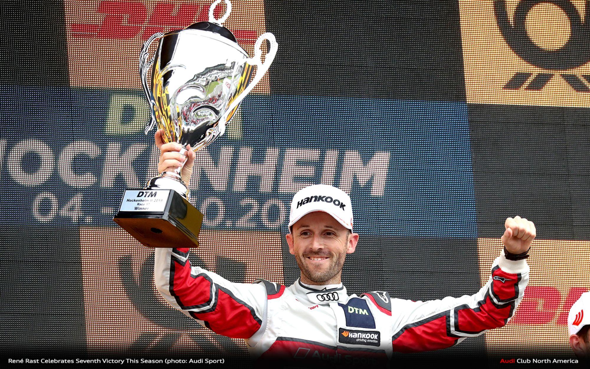 Masterful DTM Champion: René Rast Celebrates Seventh Victory This Season