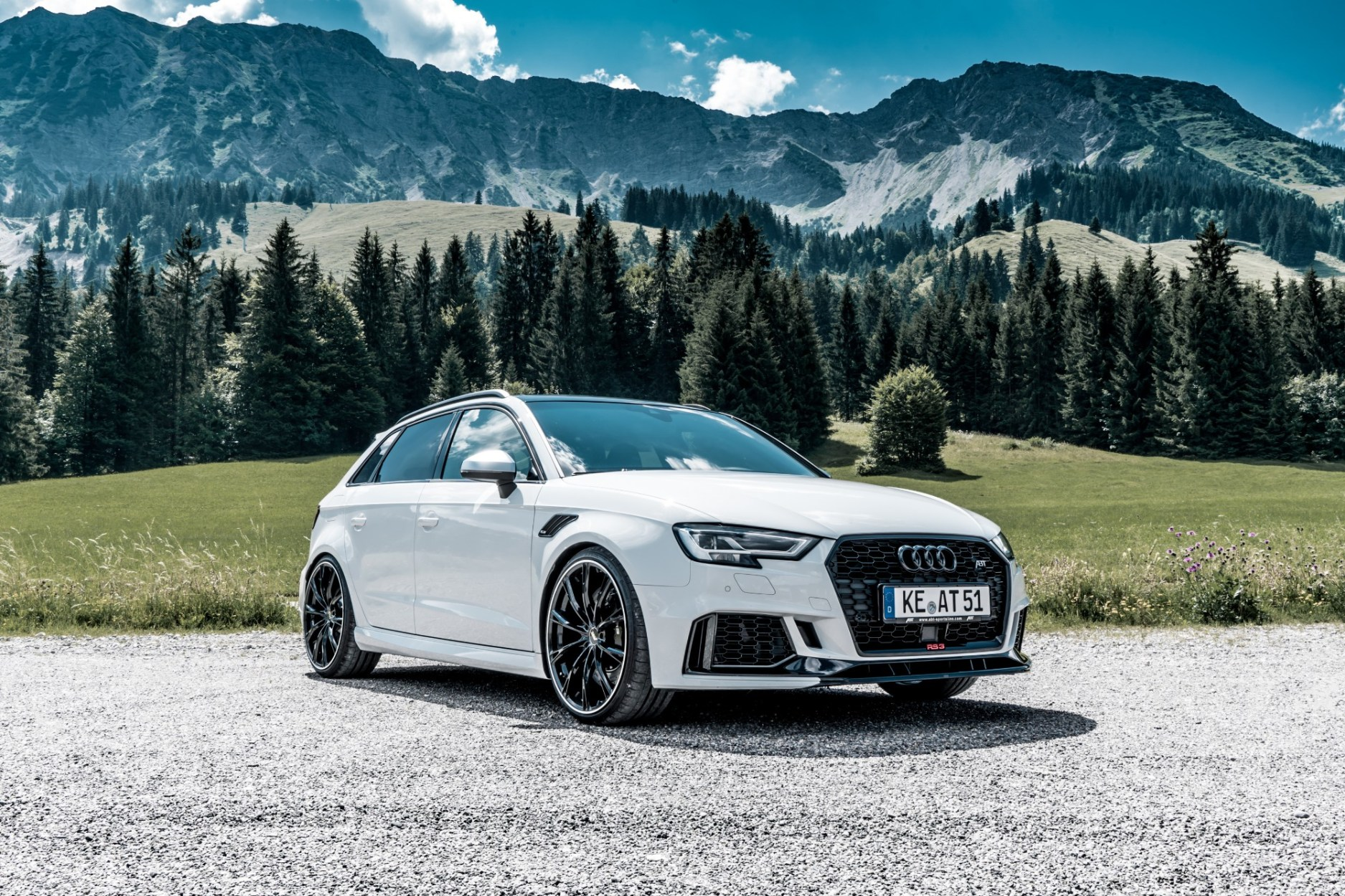 """Edelweiss"" With 500 HP And The NEW 20-Inch GR Rims: The ABT Audi RS 3 Sportback"