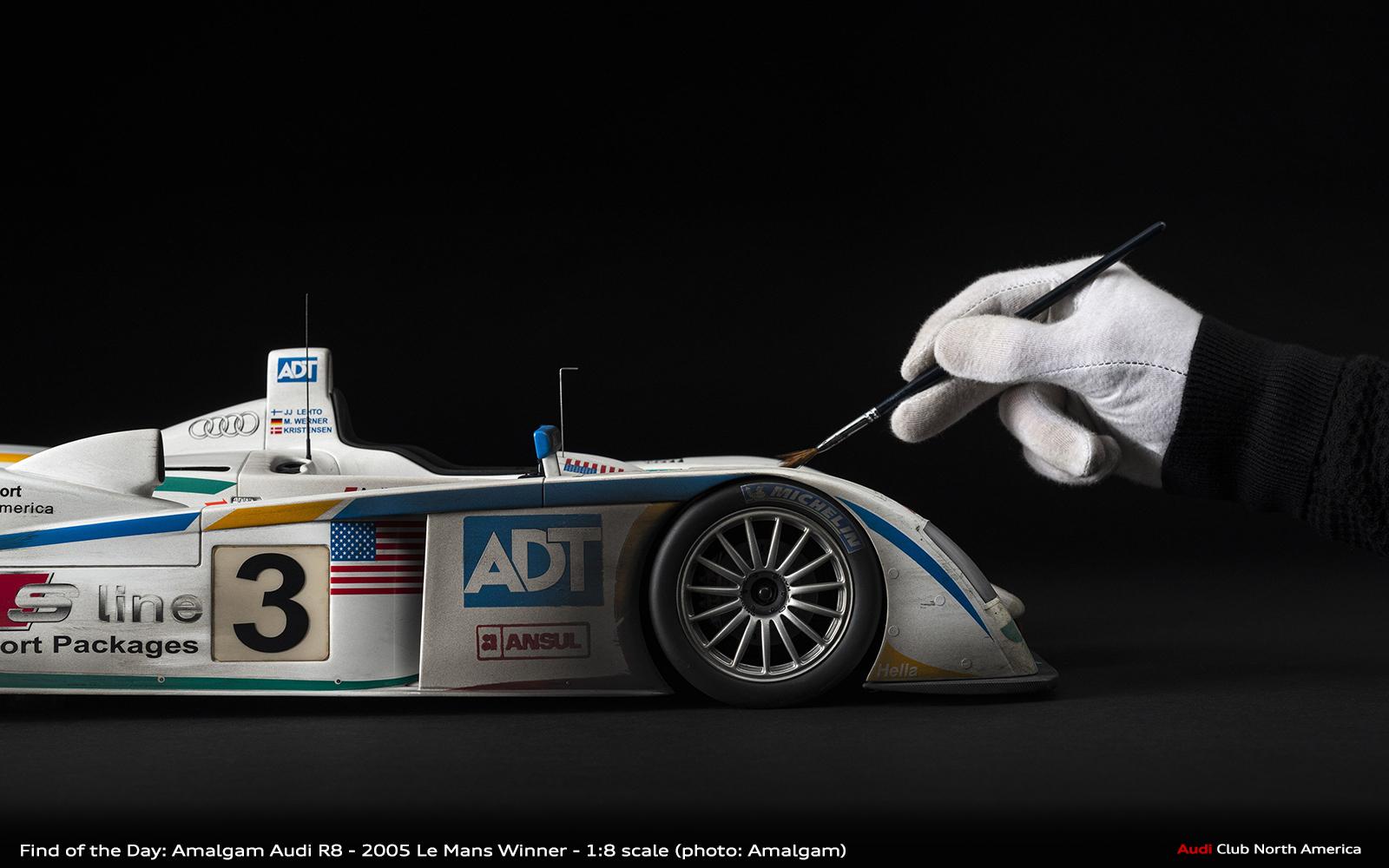 Weathered 2005 Le Mans Winning Audi R8 1:8 Scale by Amalgam