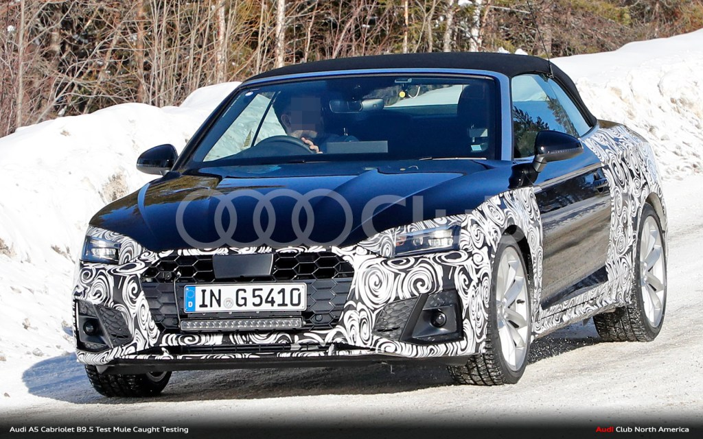 "Updated ""B9.5"" Audi A5 Cabriolet Spied Testing"