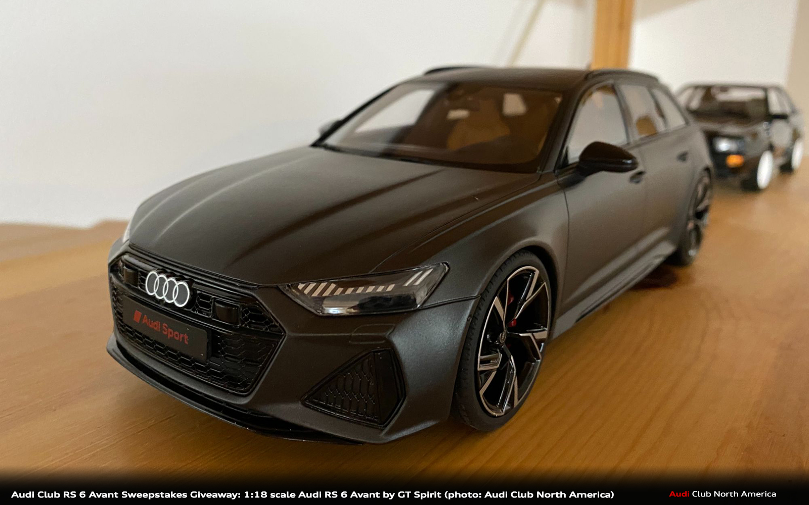 The Winner of the 1:18 Scale Matte Daytona Grey Audi RS 6 Avant Model is (Name) and New Promotion Announcement!