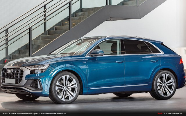 Audi Q8 In Real Life And Galaxy Blue Audi Club North America