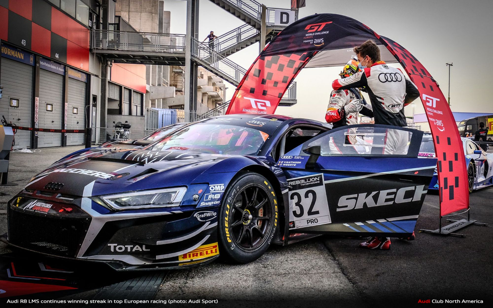 Audi R8 LMS Continues Winning Streak in Top European Racing
