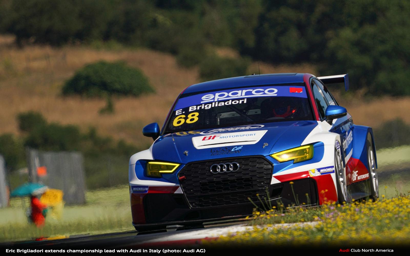 Eric Brigliadori Extends Championship Lead with Audi in Italy
