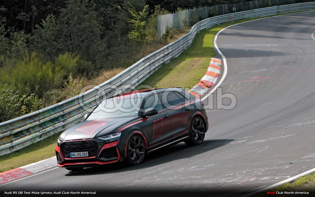 "Audi RS Q8 a ""Cool Mule"", Testing at Nurburgring with this Livery"