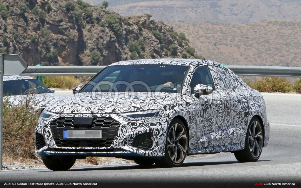 Next-Generation Audi S3 Sedan Spied