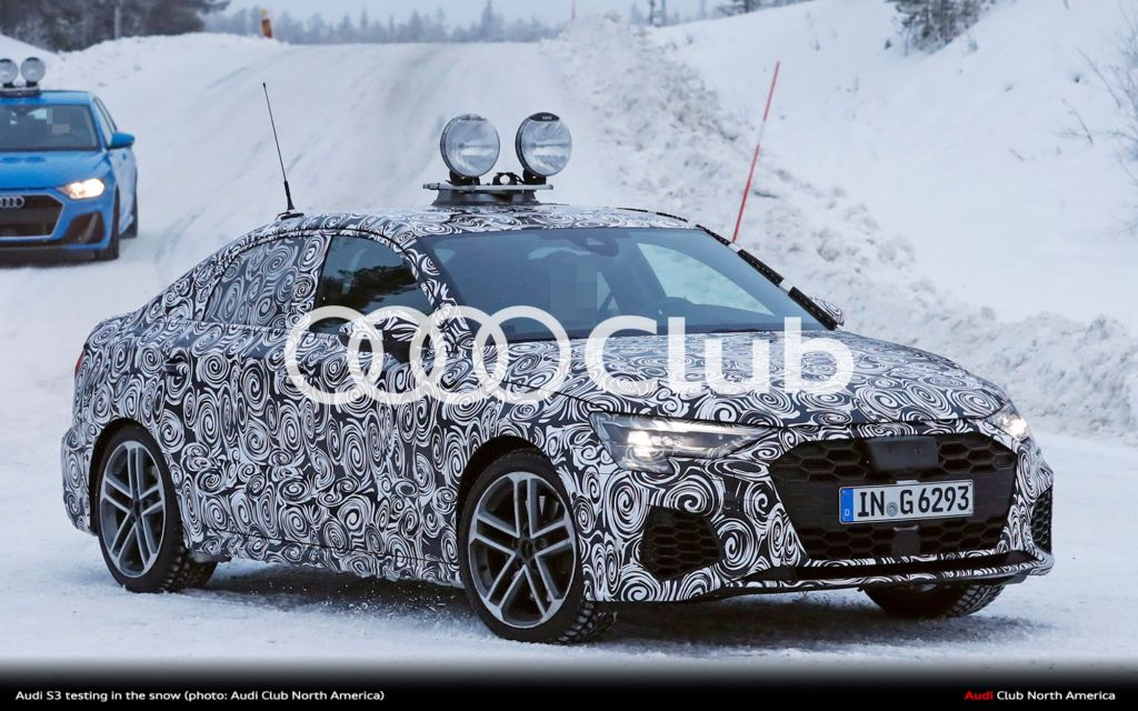 Spy Photos of the Audi S3 Sedan in the Snow Plus Audi A3 Sedan (Almost) Uncovered