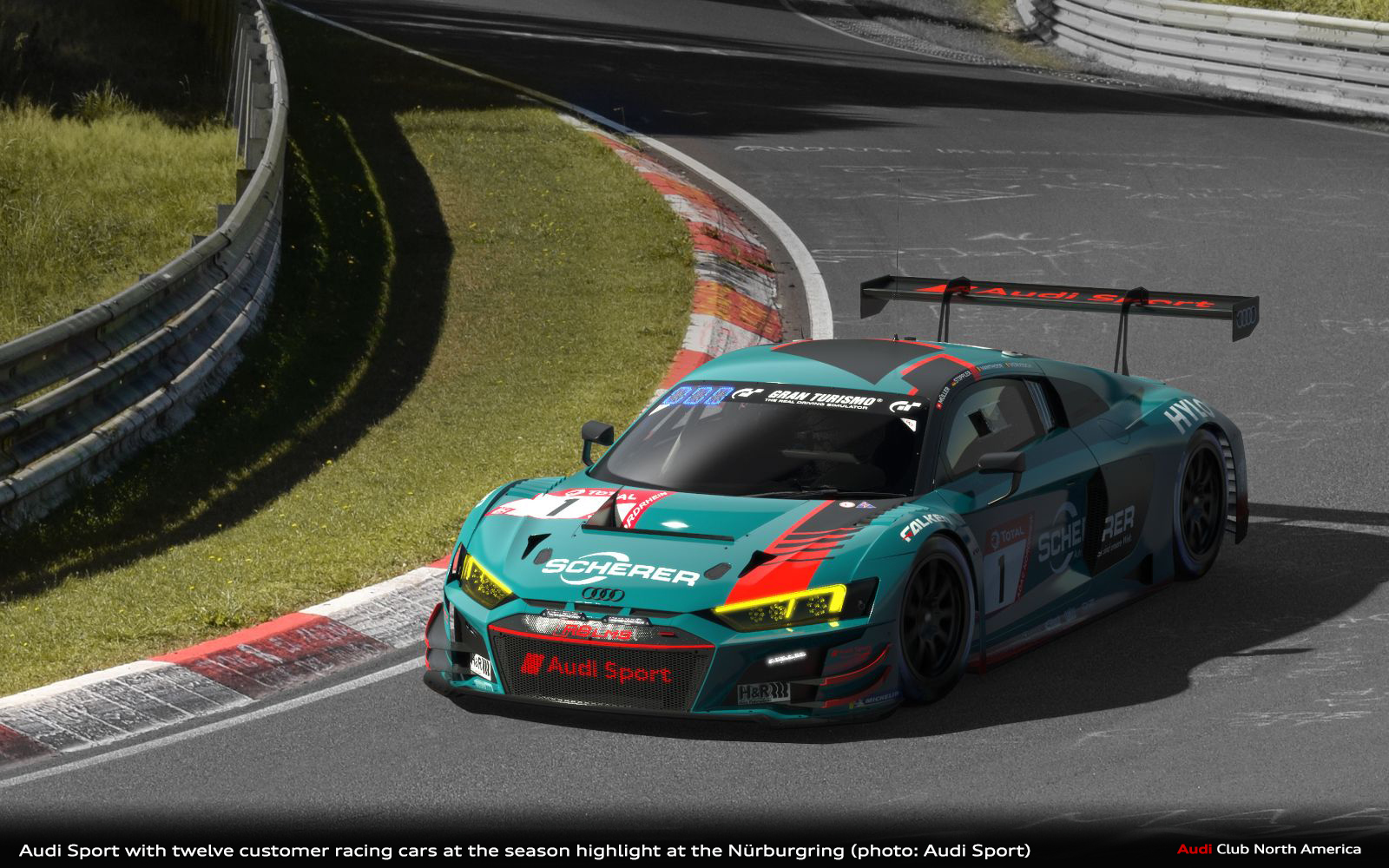 Audi Sport with twelve customer racing cars at the season highlight at the Nürburgring