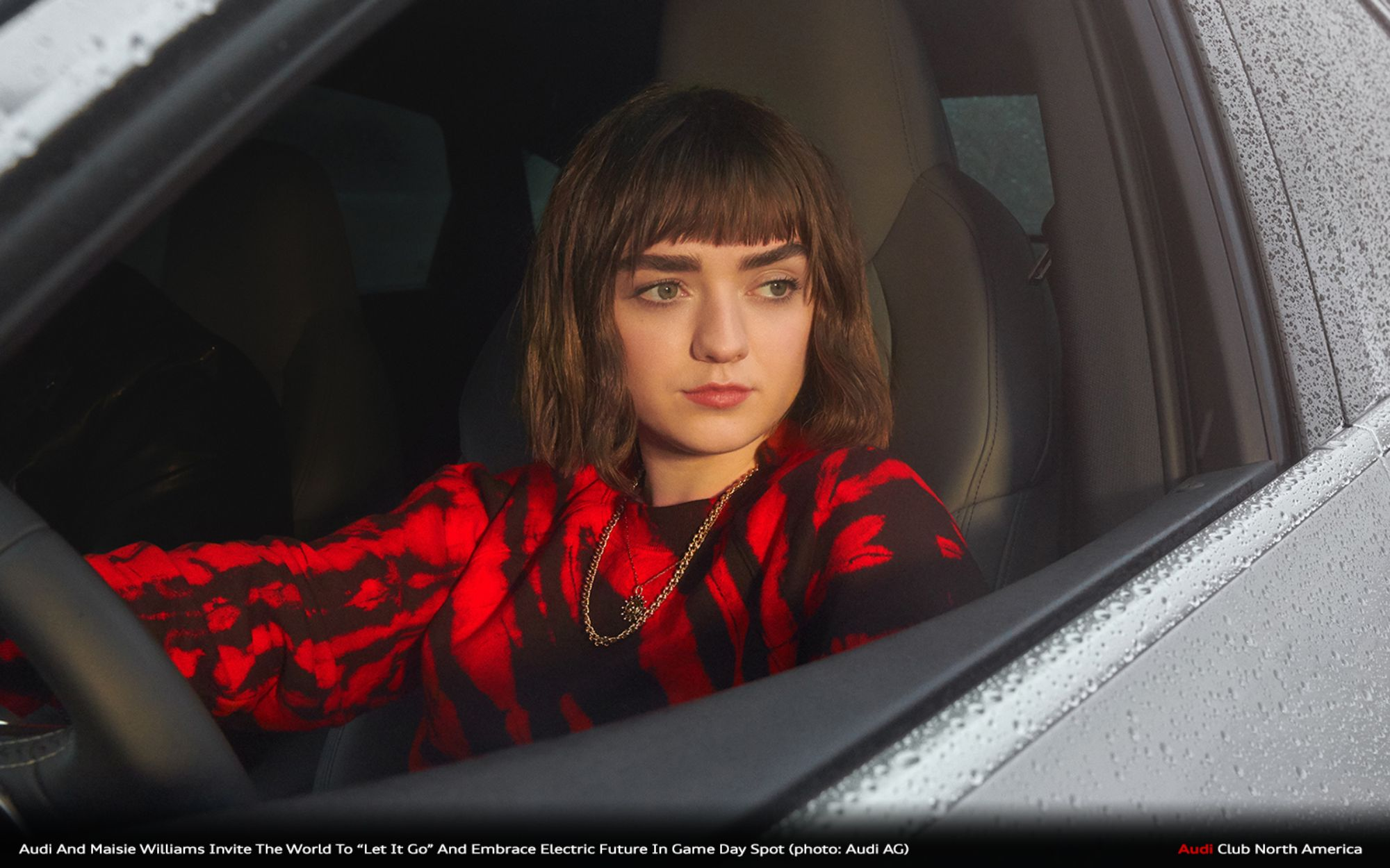 """Audi And Maisie Williams Invite The World To """"Let It Go"""" And Embrace Electric Future In Game Day Spot"""