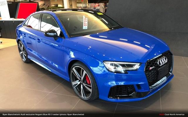 Audi exclusive Nogaro Blue RS 3 Sedan