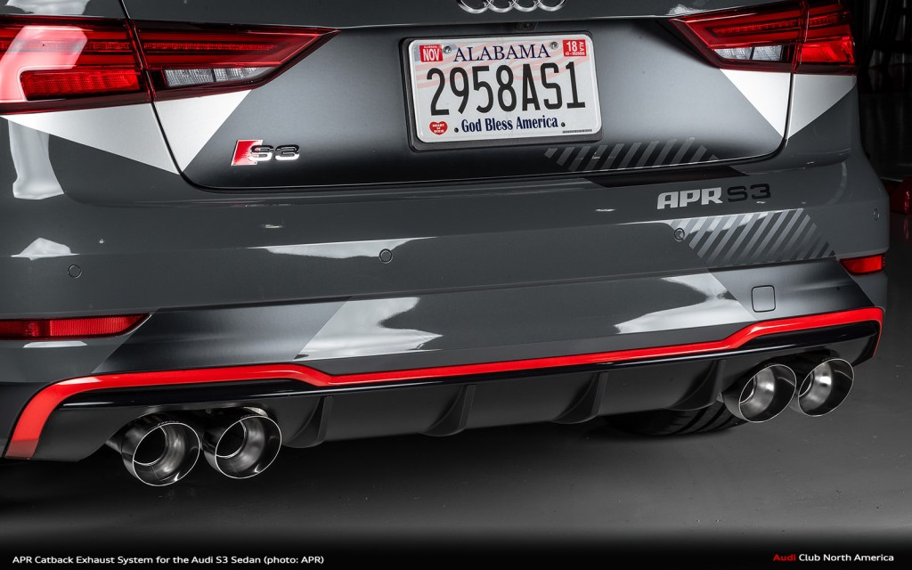 APR Catback Exhaust System for the Audi S3 Sedan