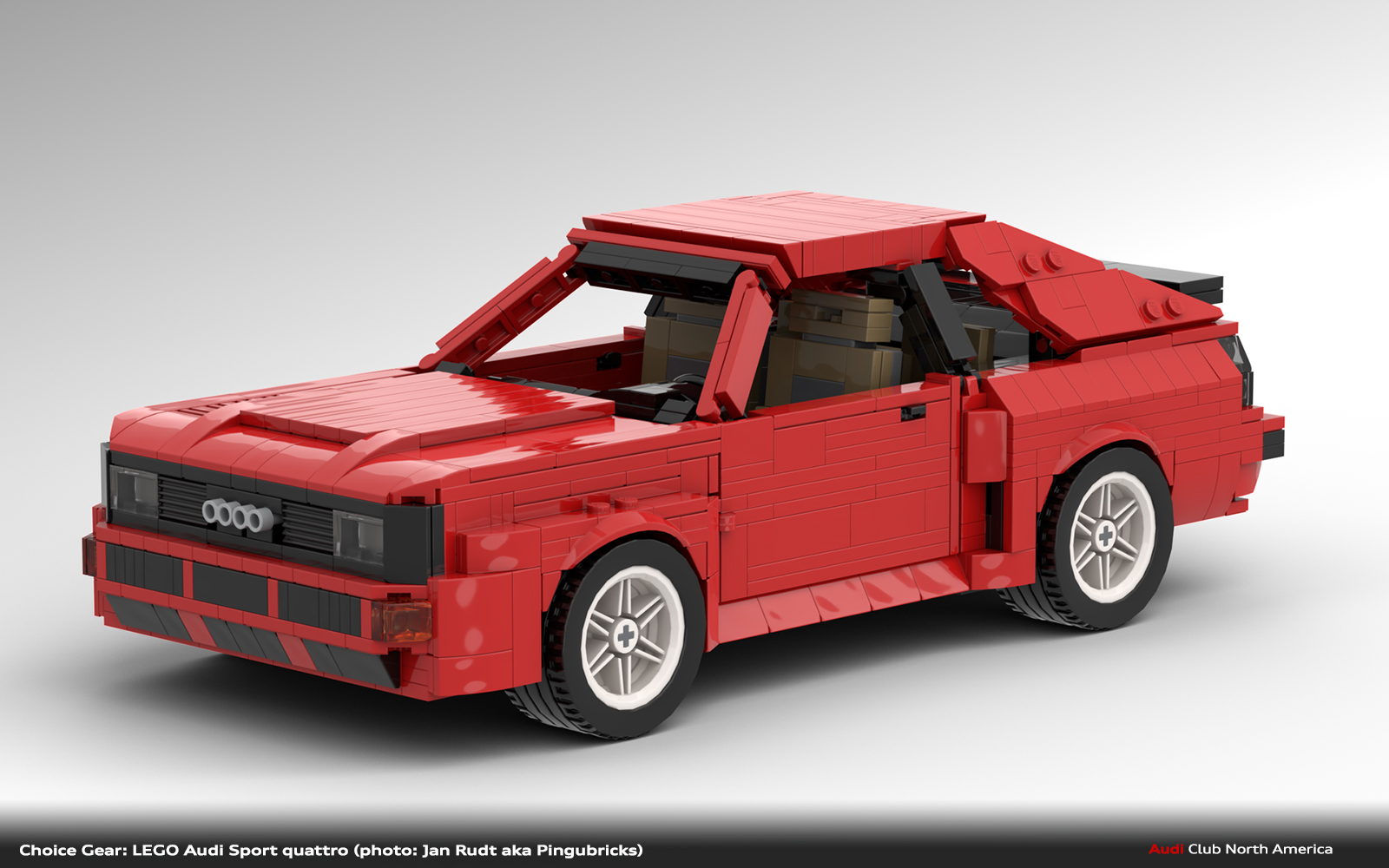 Choice Gear: MOC LEGO Audi Sport quattro by Pingubricks