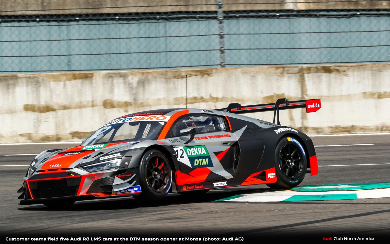Customer Teams Field Five Audi R8 LMS Cars at the DTM Season Opener at Monza