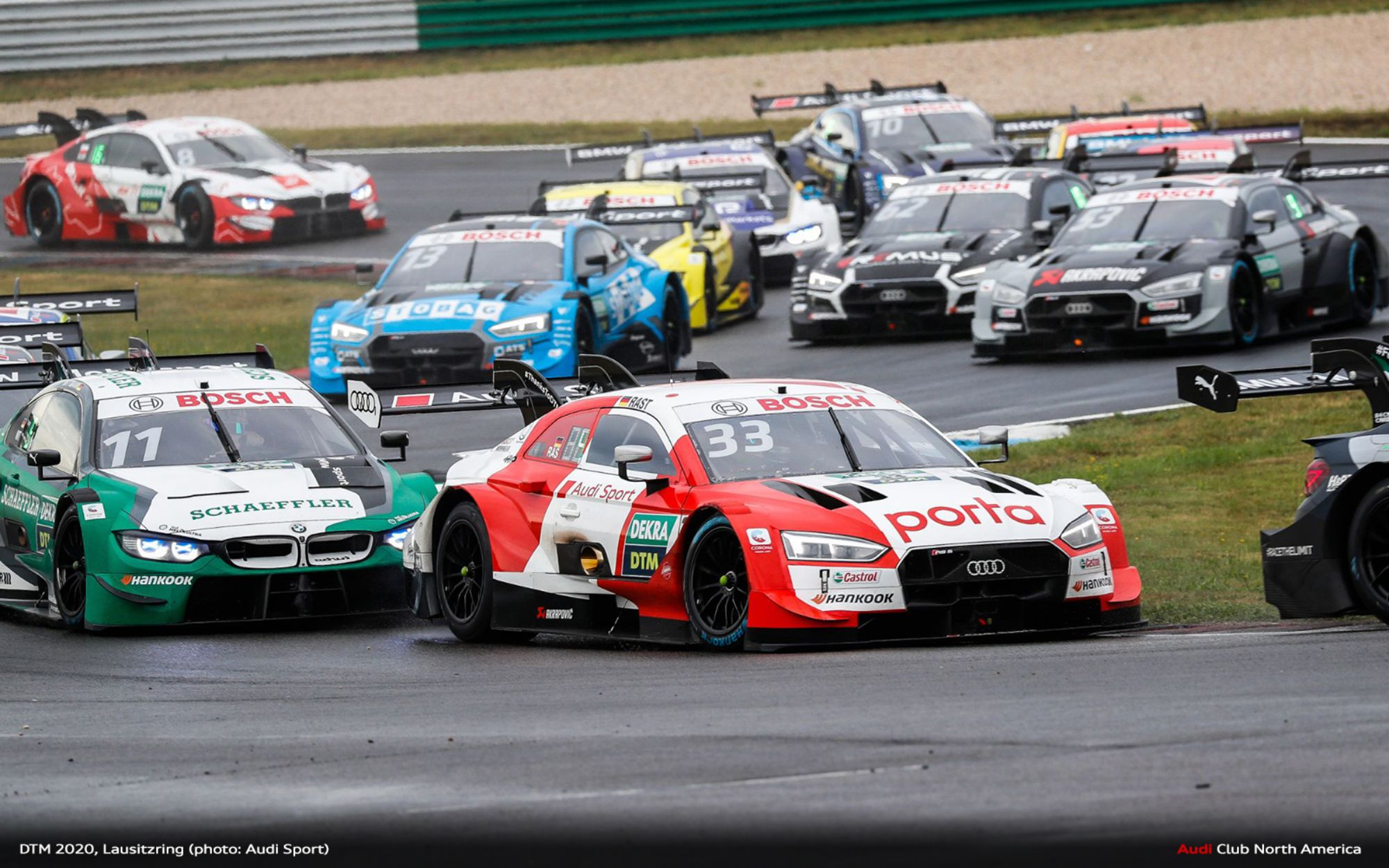 René Rast Wins in Audi Podium Sweep at Lausitzring