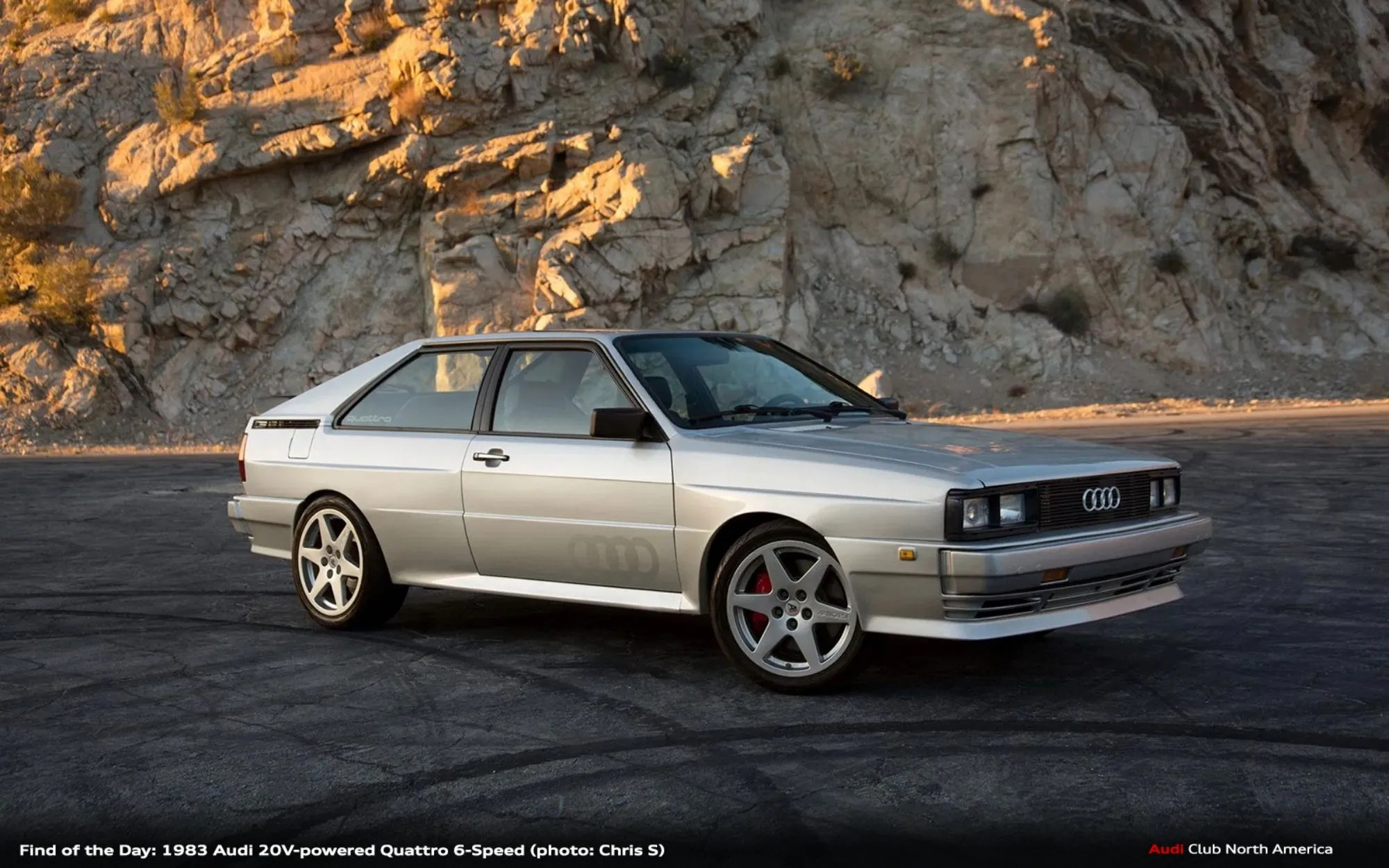 Find of the Day: 1983 Audi 20V-Powered Quattro 6-Speed