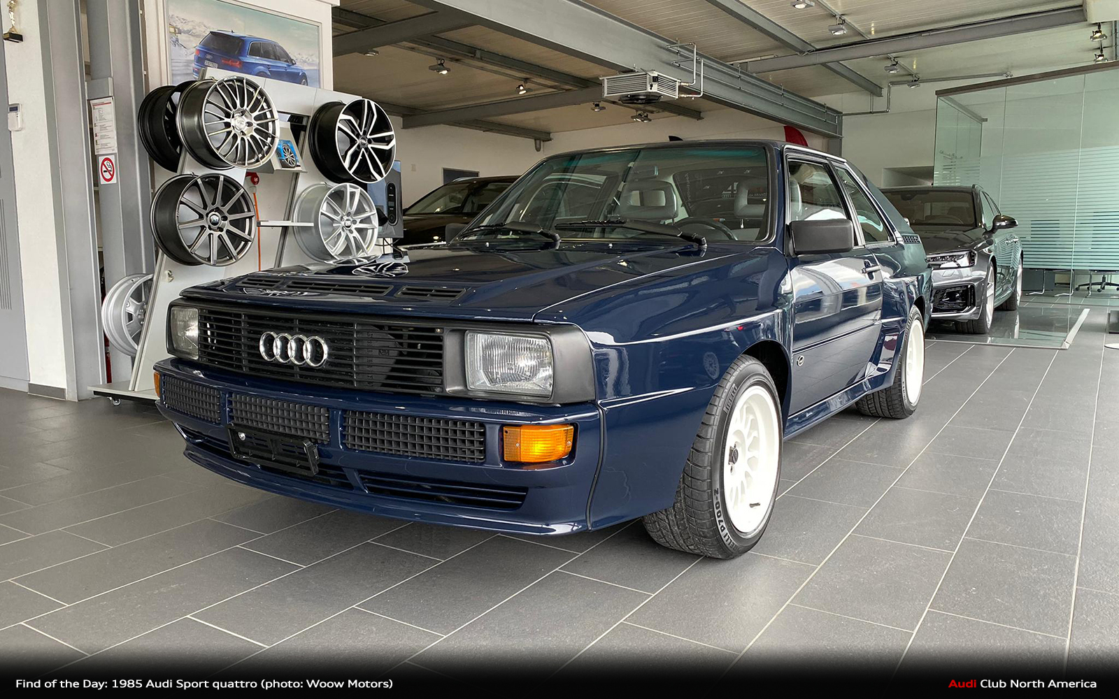 Cinco (Cylinders) de Mayo Find of the Day: 1985 Copenhagen Blue Audi Sport quattro