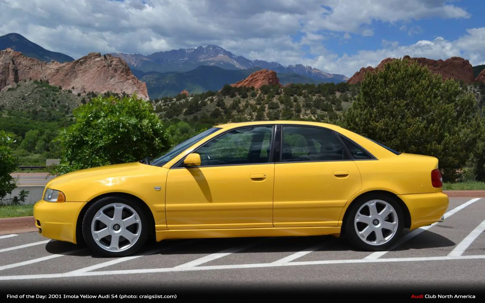 Find of the Day: 2001 Imola Yellow Audi S4
