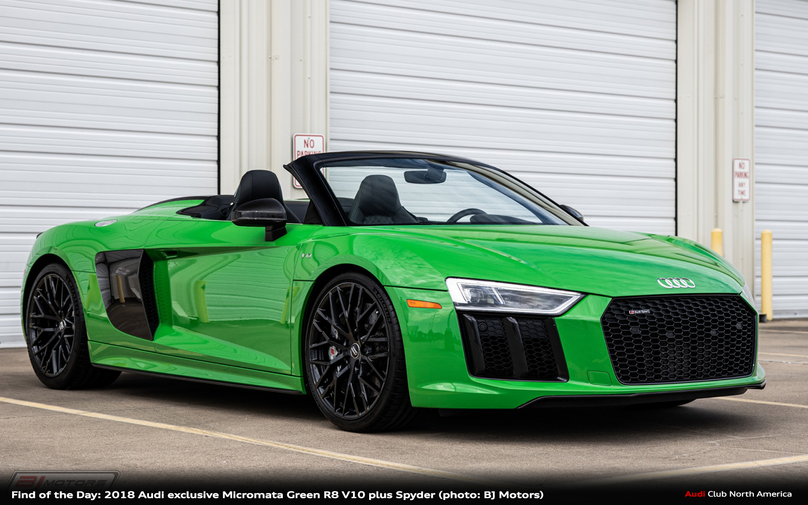 Find of the Day: 2018 Audi exclusive Micromata Green R8 V10 plus Spyder