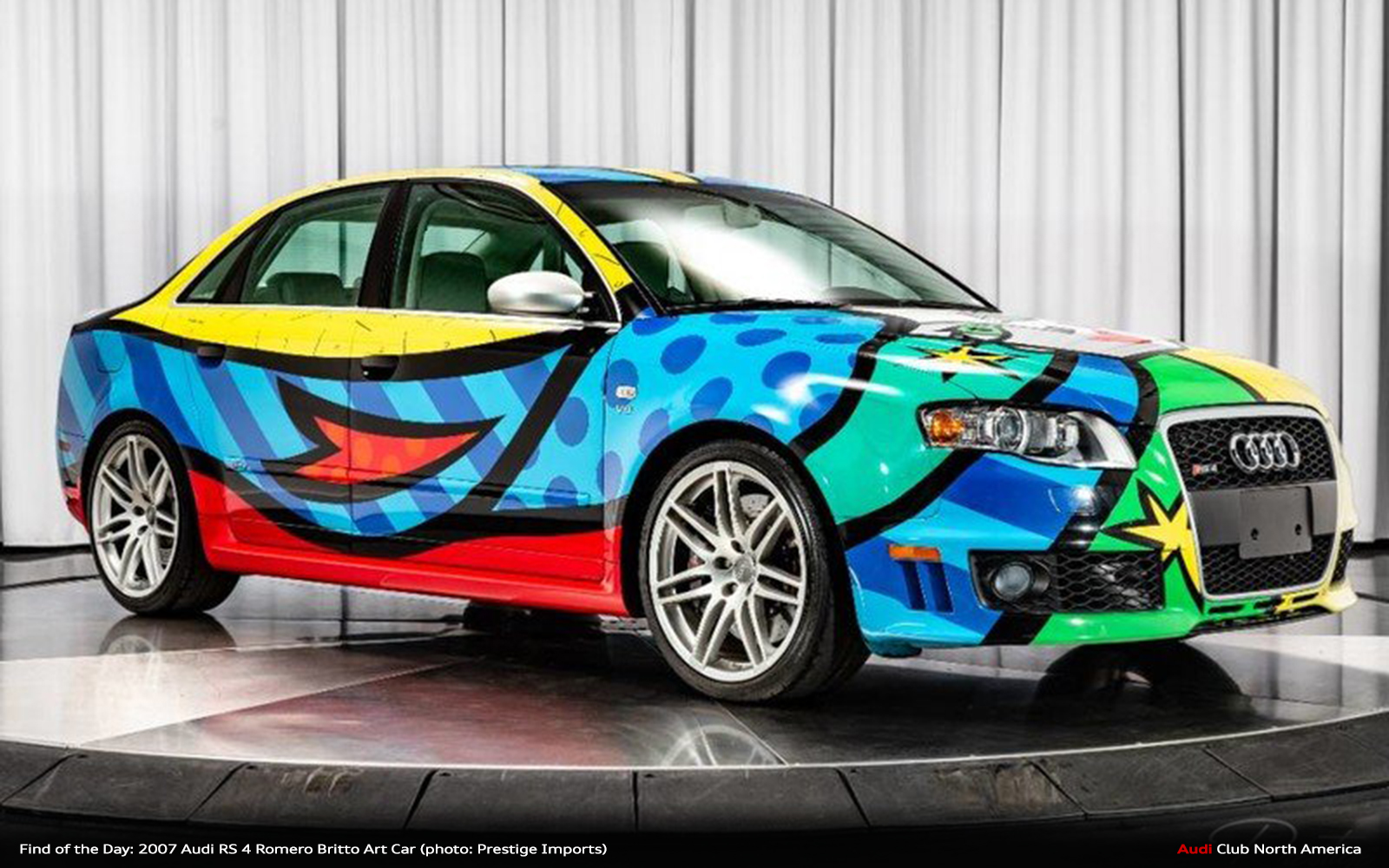 Find of the Day: 2007 Audi RS 4 Romero Britto Art Car