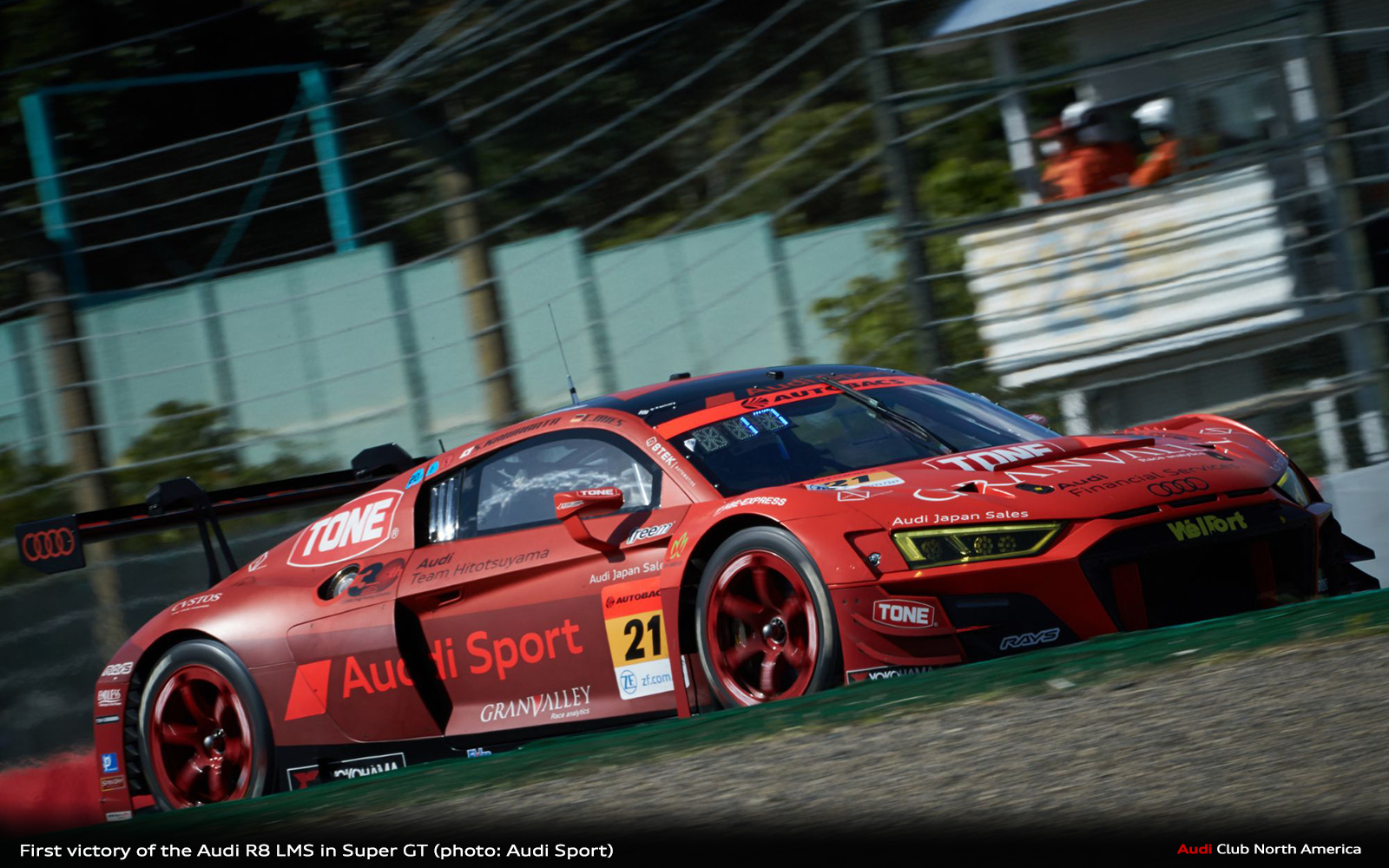 First Victory of the Audi R8 LMS in Super GT