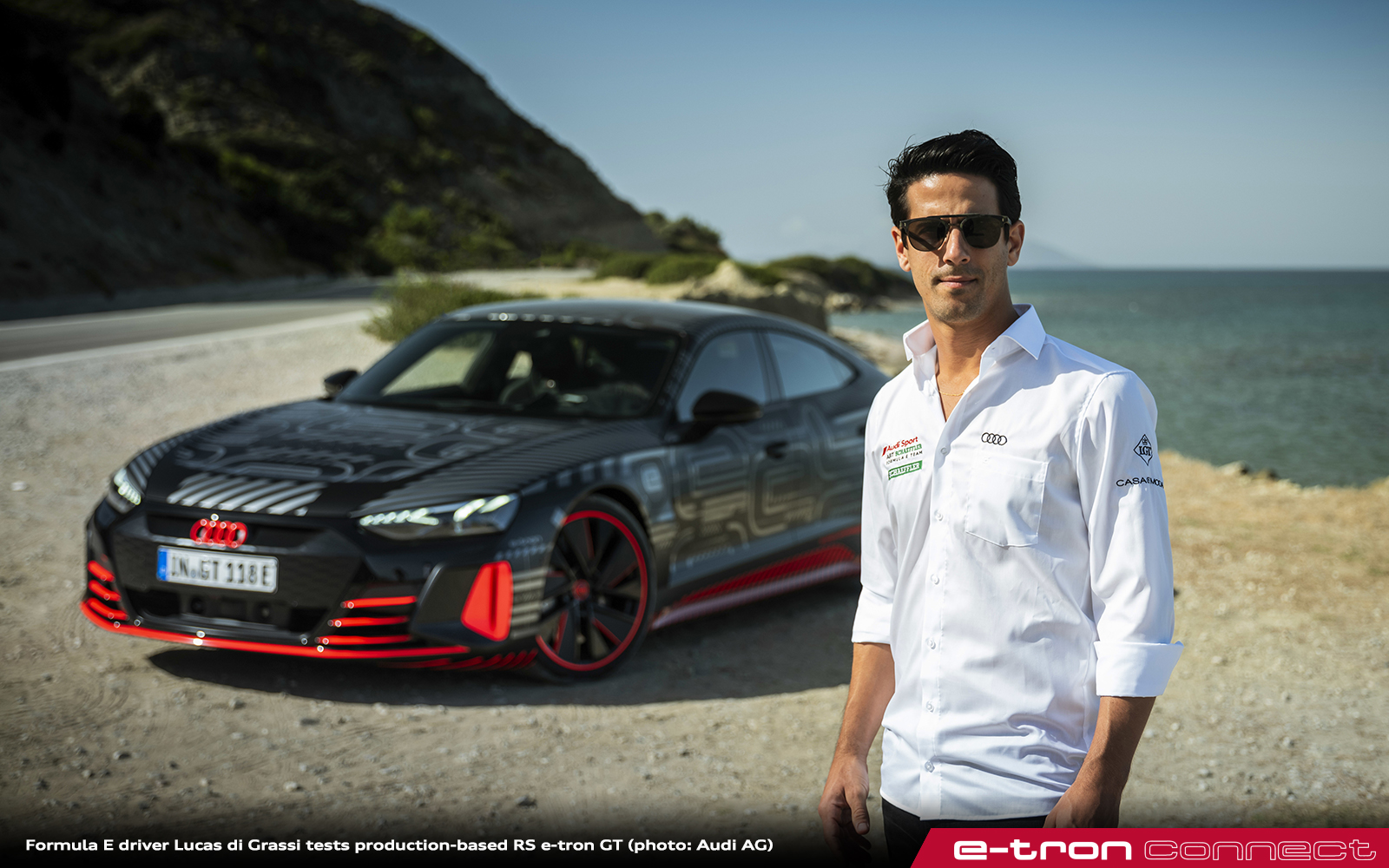 The Moment of Truth: Formula E Driver Lucas di Grassi Tests Production-Based RS e-tron GT