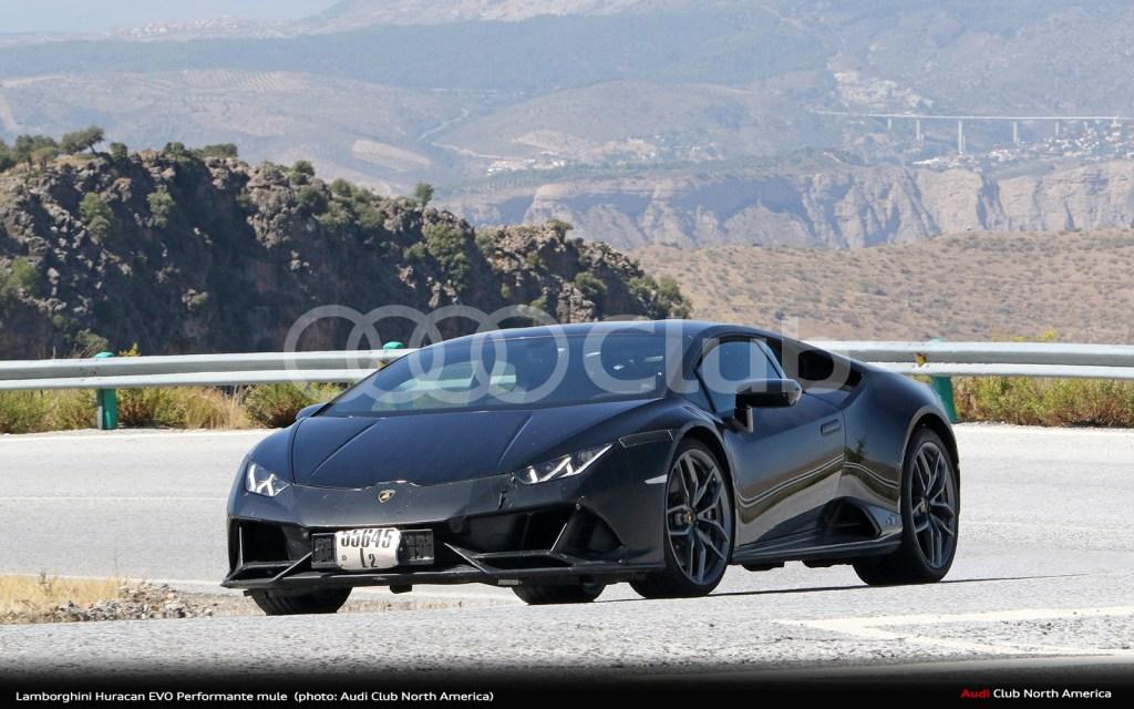 Spy Photos: Lamborghini Huracán EVO Performante Mule Spotted