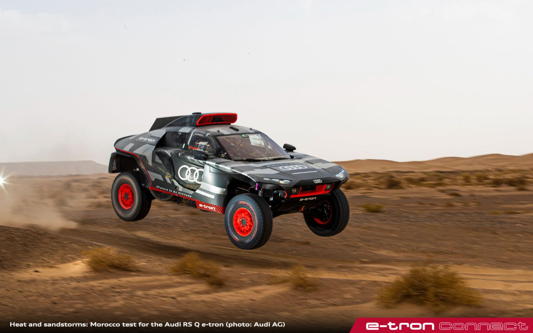 Heat and Sandstorms: Morocco Test for the Audi RS Q e-tron