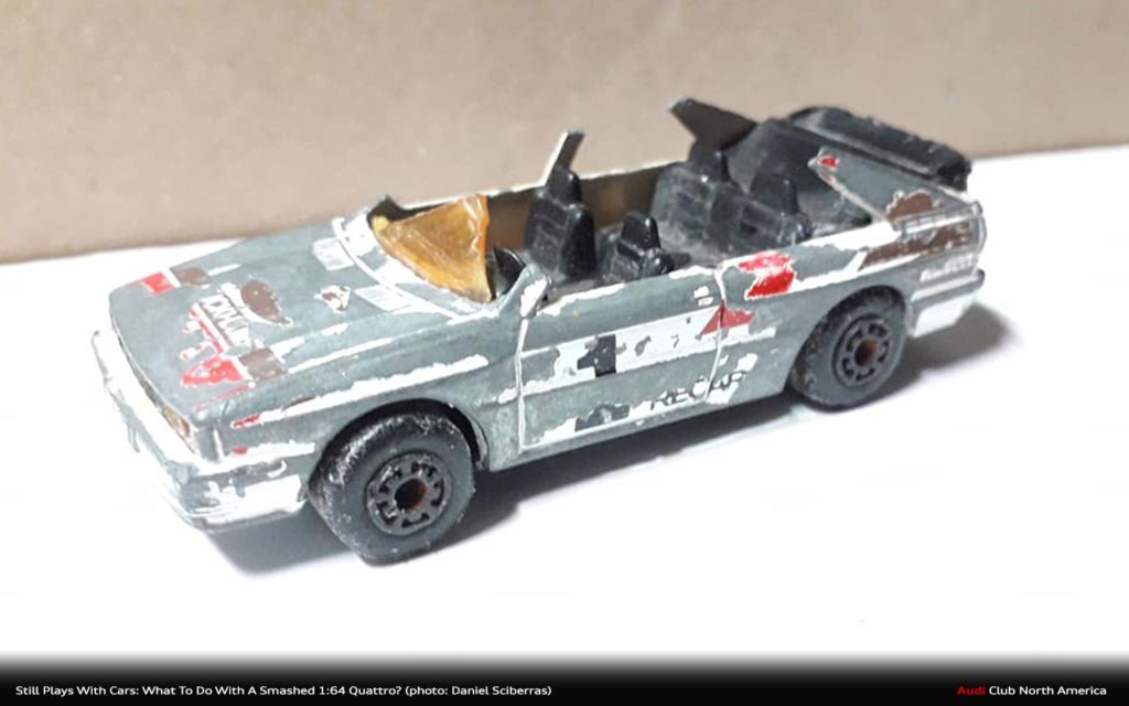 Still Plays With Cars: What To Do With A Smashed 1:64 quattro?