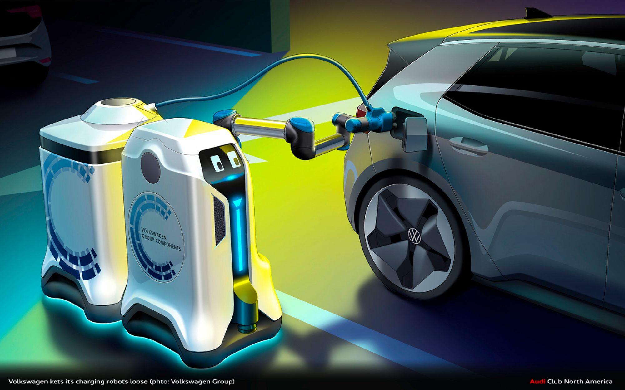 World Premiere: Revolution In The Underground Park - Volkswagen Lets Its Charging Robots Loose