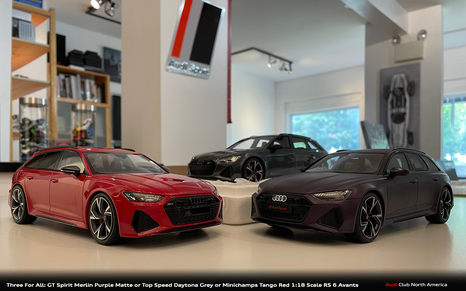 Three For All: GT Spirit Merlin Purple Matte or Top Speed Daytona Grey or Minichamps Tango Red 1:18 Scale RS 6 Avants