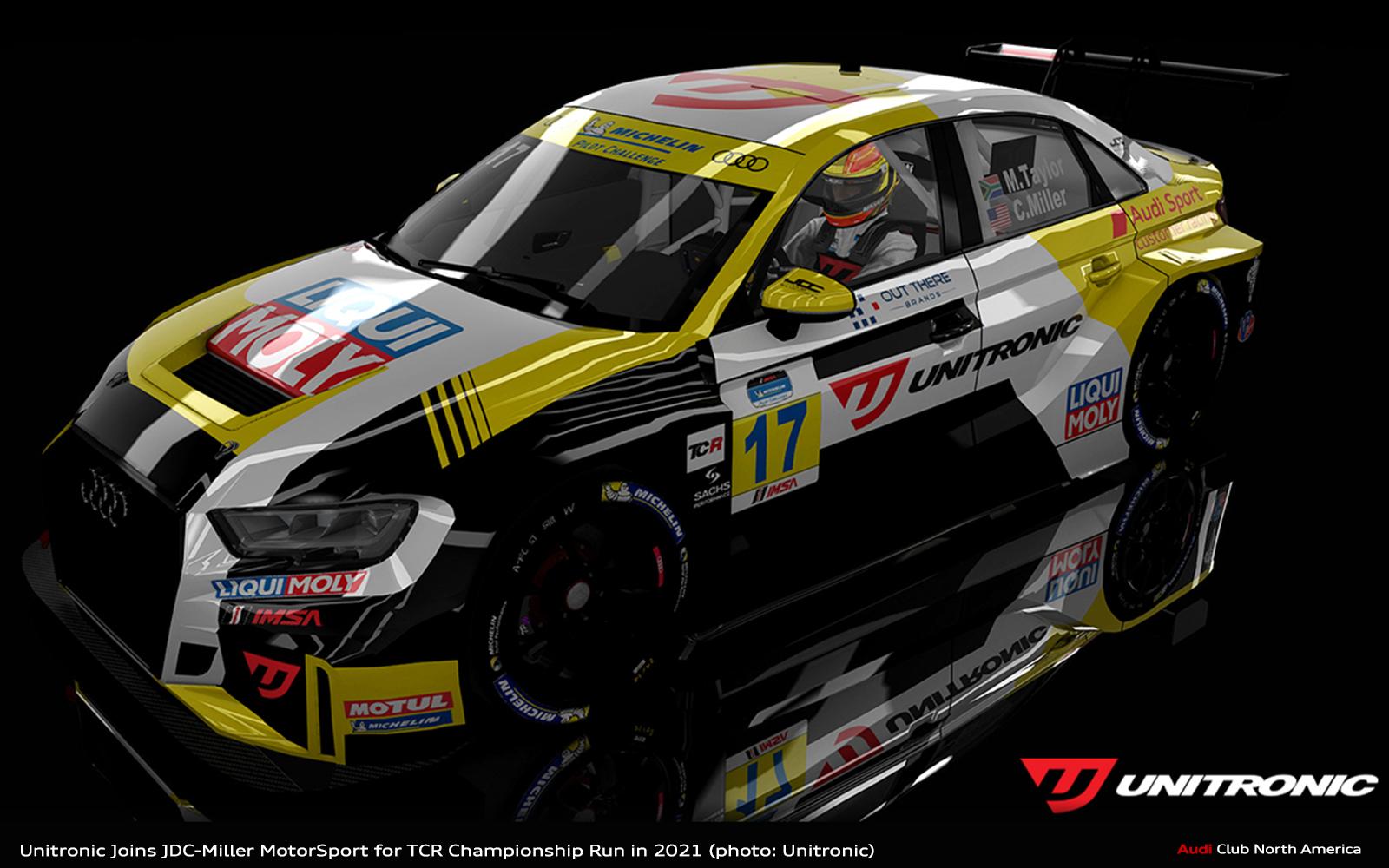 Unitronic Joins JDC-Miller MotorSport for TCR Championship Run in 2021