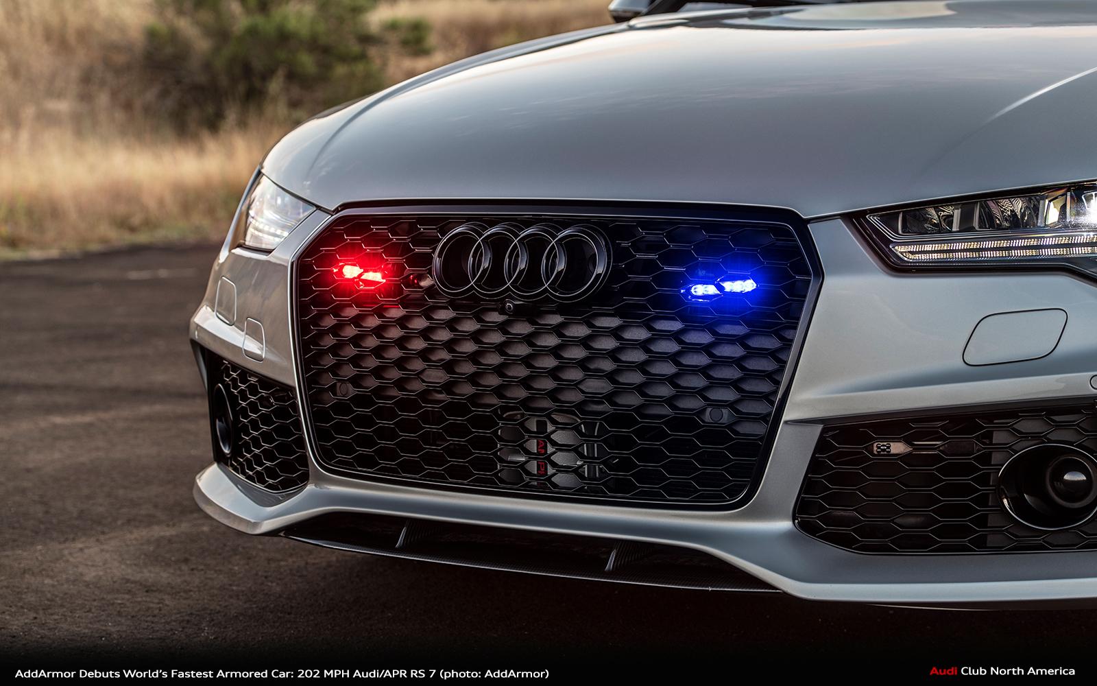 Add Armor Audi Rs7 Front Bumper Red Light Blue Light Copy Audi