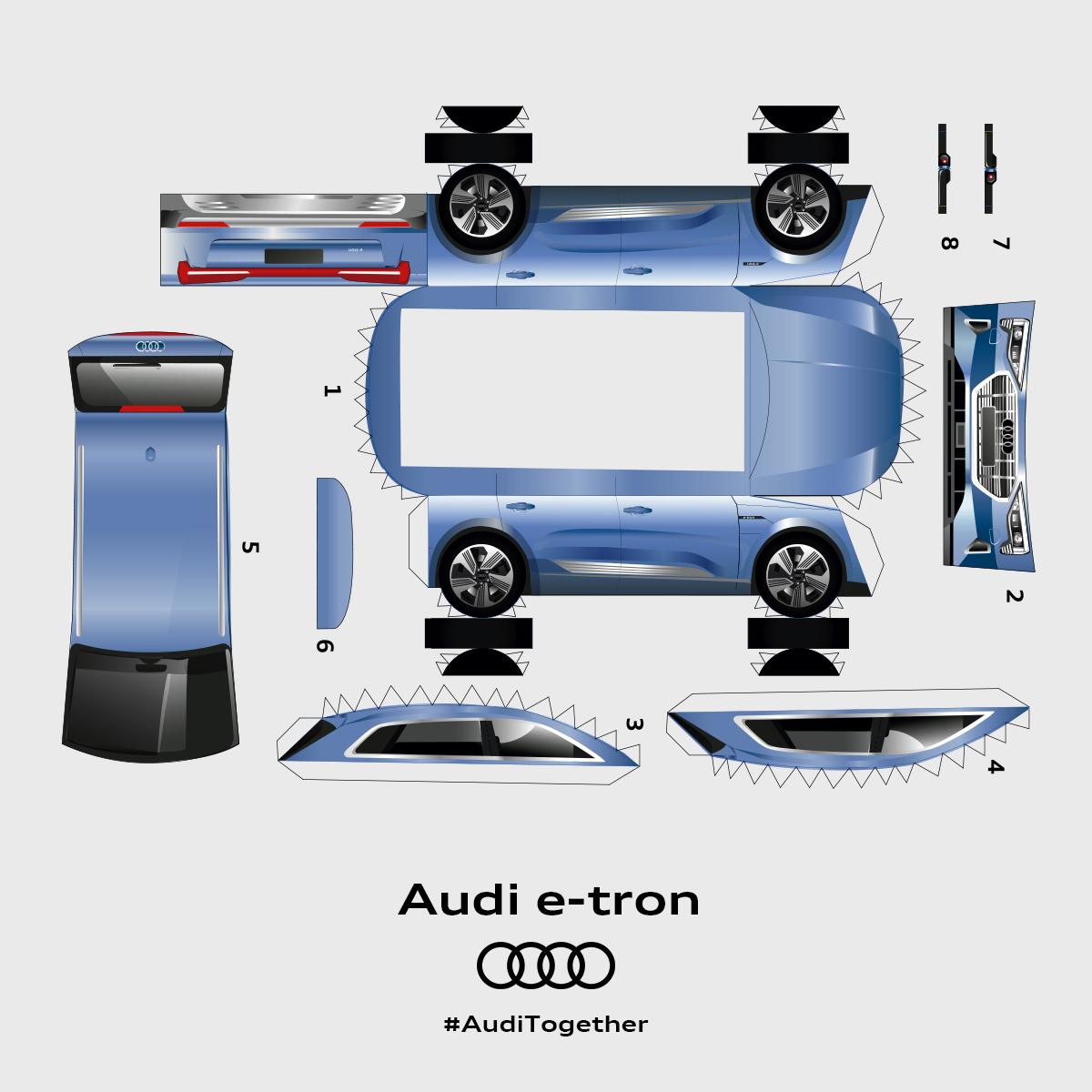 #quarantinequattro: Audi Of America Releases Paper Cutout