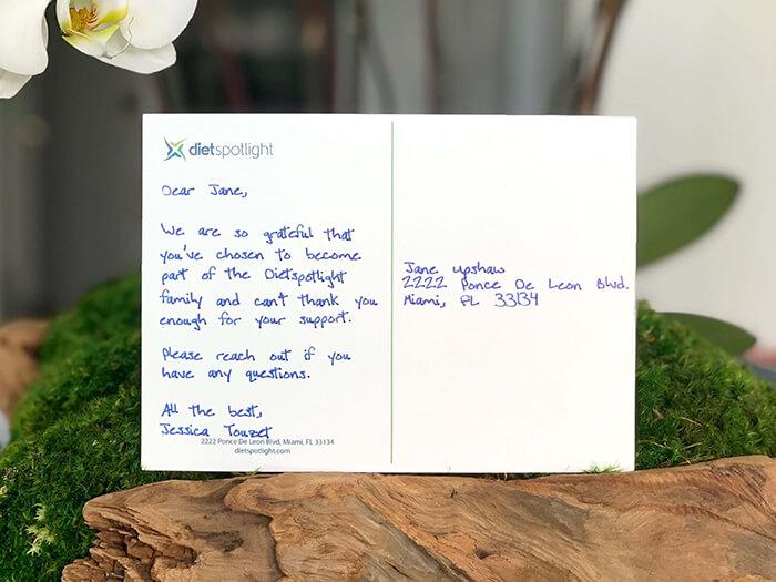Audience Handwritten Postcard Example