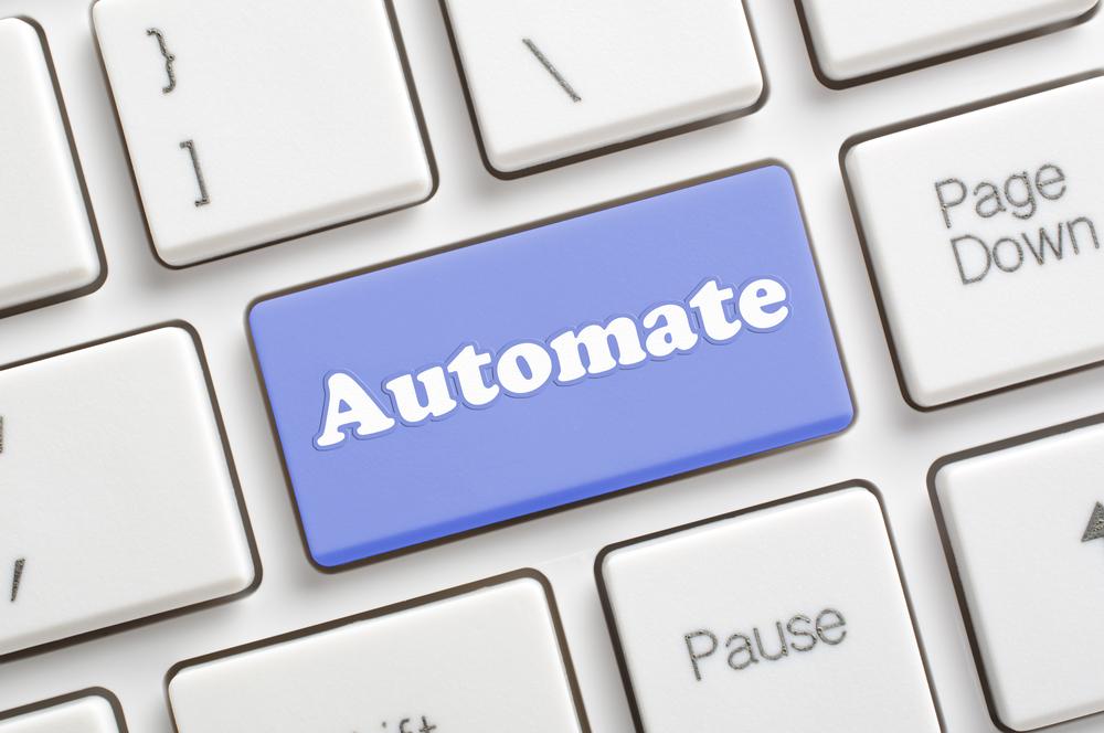 closeup computer keyboard with Automate key