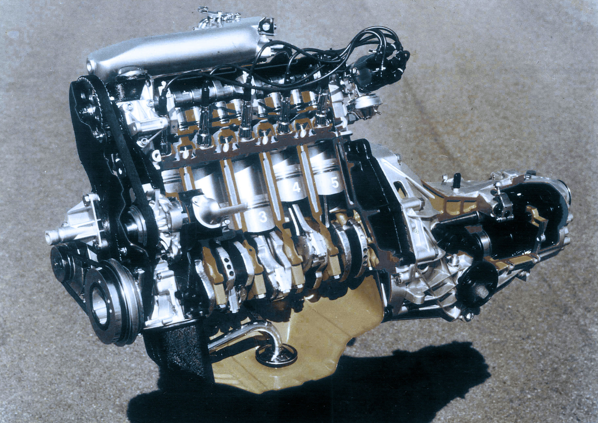 40 years of audi five cylinder engines [ 2400 x 1697 Pixel ]