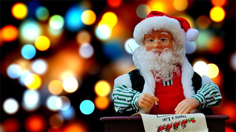 Santa writing a list