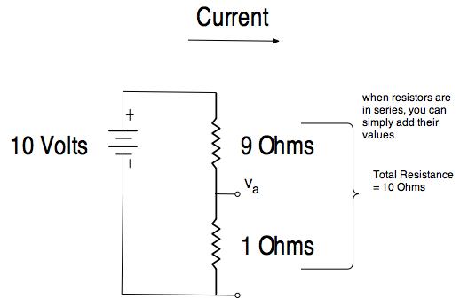 with our last example the high resistance voltage divider circuit