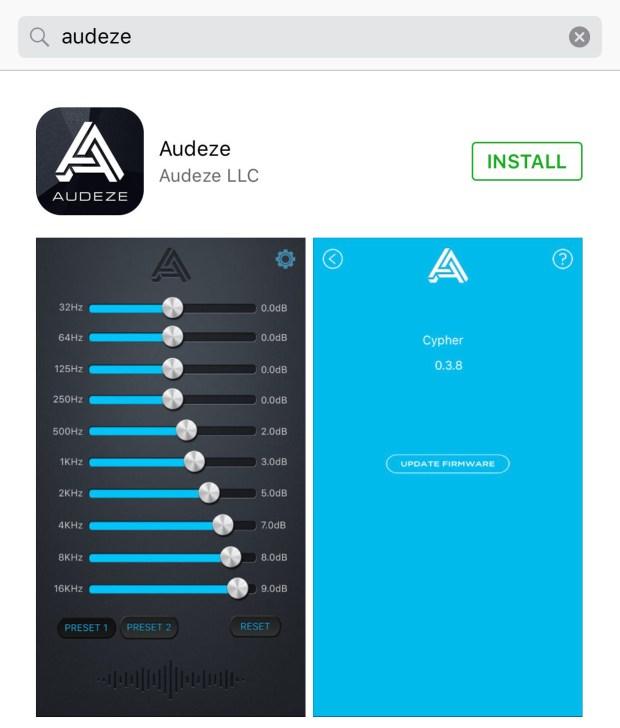 Audeze Cipher App from App Store