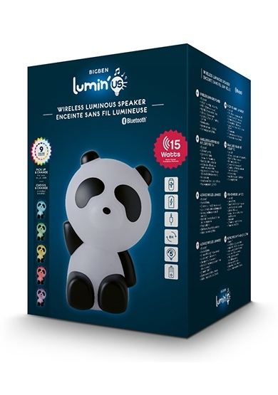 Bluetooth Usb Aux Speaker With Light - Panda - Accessoires (3499550381252)