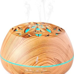 Aromasound Bluetooth Speaker Luminous Diffuser - Wood - Accessoires (3499550379372)