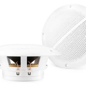 """Vonyx Marine Speaker Set Spatwaterdicht 5"""" 8 Ohm, Wit"""