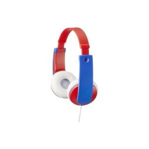 ![CDATA[HA-KD7-RNE JVC Kids TinyPhones Headphone Red/Blue]]