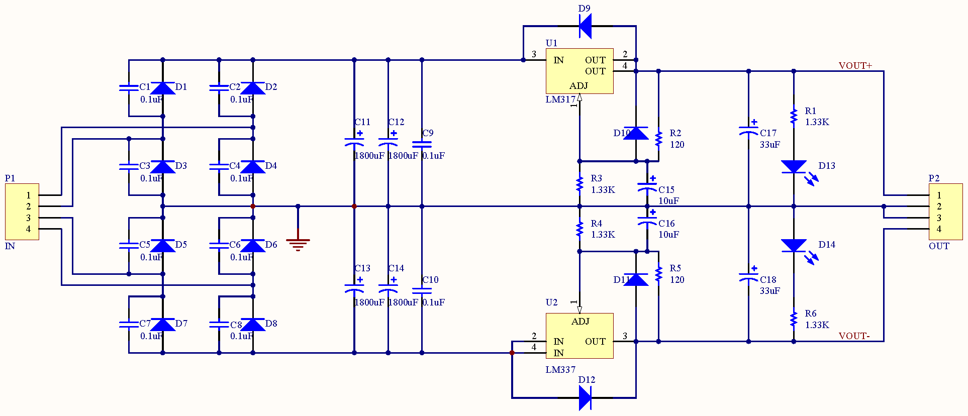 hight resolution of minipow lm317 337 bipolar power supply circuit diagram power supply circuit 18v bipolar regulated voltage