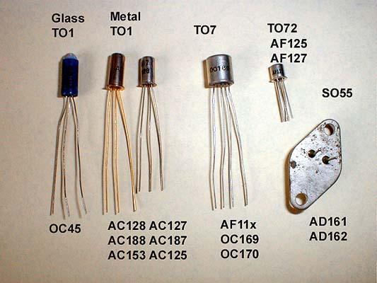 Germanium Transistor. Image from www.vintageradio.me.uk