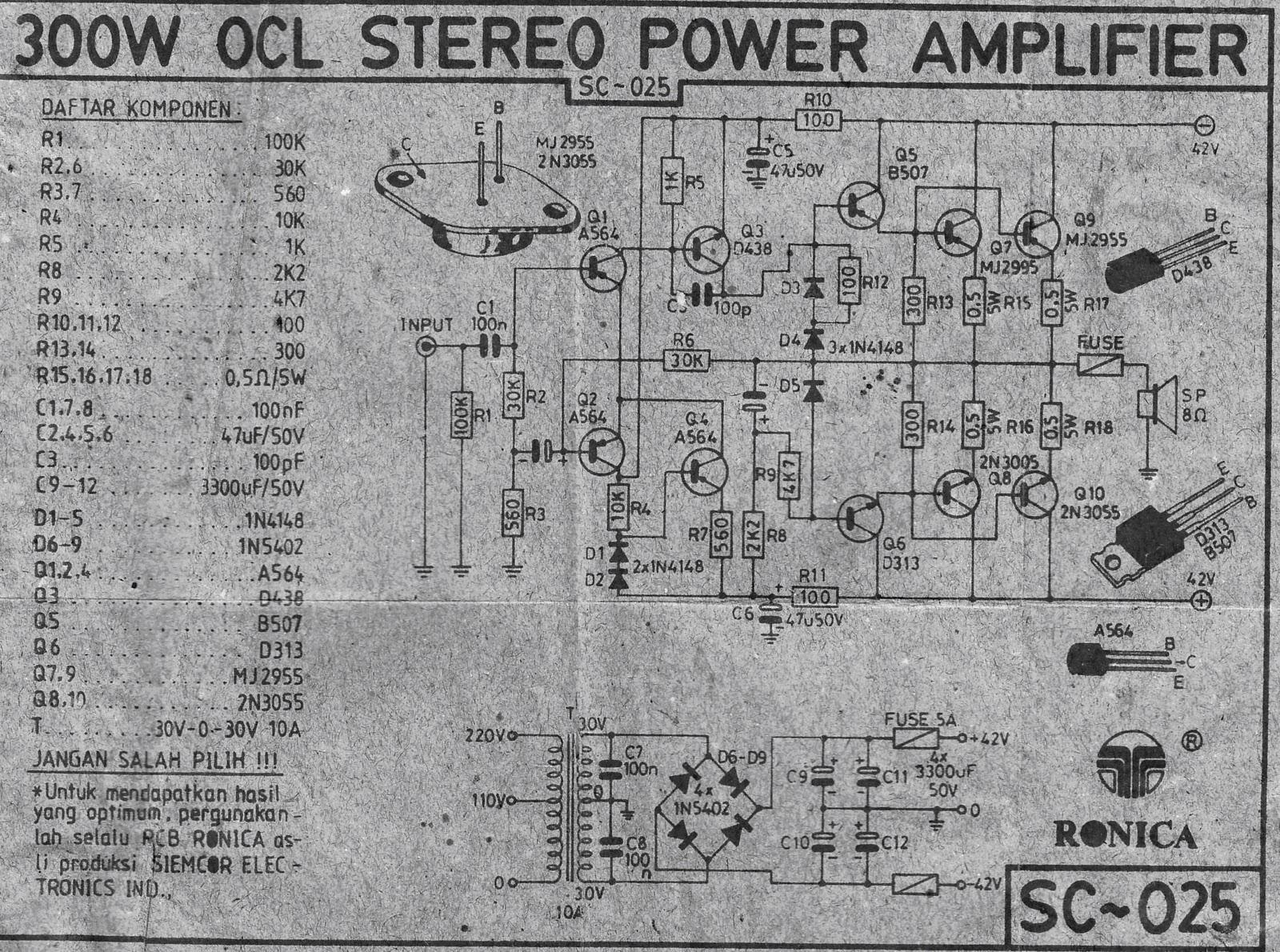small resolution of 300w power amplifier ocl circuit audiobbm com let s do it simple electric generator diagram http polnischesteinkohleeu