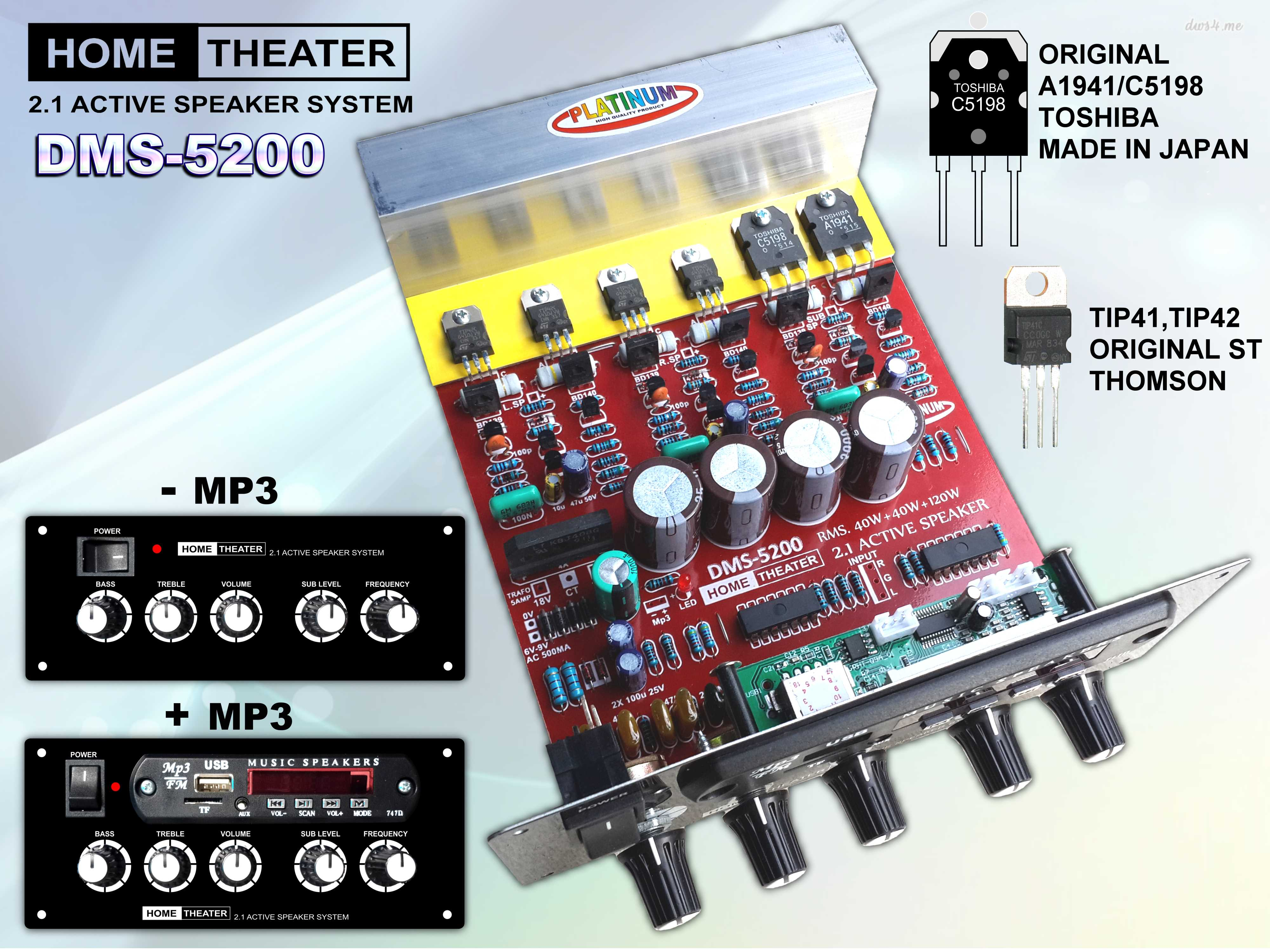 Kit Home Amplifier Active Speaker Modul  Audiobbmcom