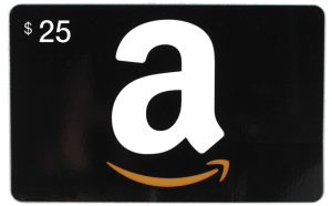 Prize: $25 Amazon Gift Card